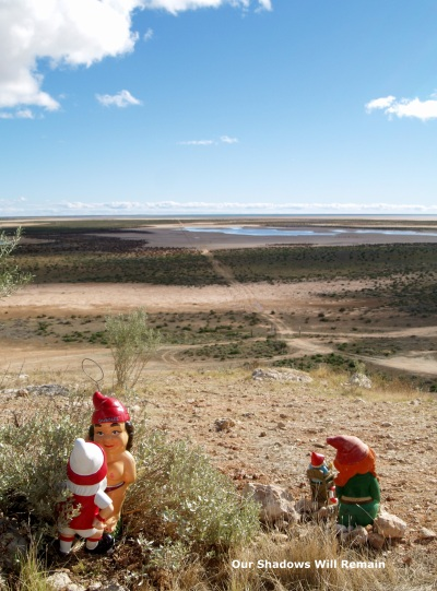 A collection of gnomes in the middle of nowhere