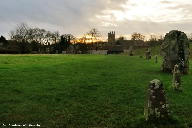 Sunset Over Avebury Ring
